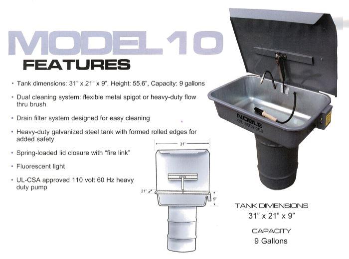 Model 10 Specs